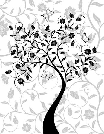 Abstract floral background. Vector illustration. Vector