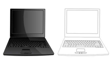 Isolated image of a Laptop Vector