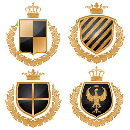buckler: Coat of arms. Vector Illustration.