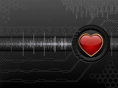 Futuristic love background. Vector illustration. Vector