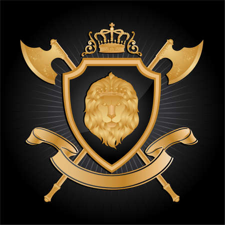 axe: Coat of arms.