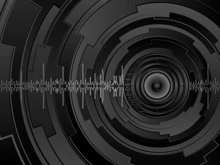 equipo de sonido: Fondo futurista abstracta  Vectores