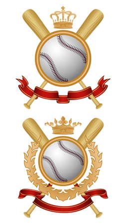 Baseball coat of arms Vector