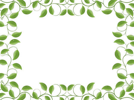 green leaves border: Floral frame