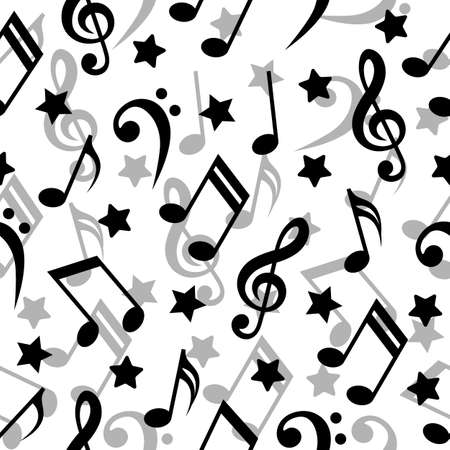 Seamless pattern with a music notes. Vector