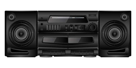Isolated image of a boombox. Vector