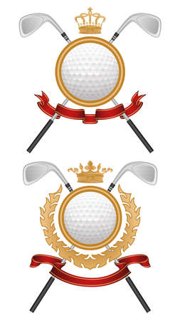 Golf coat of arms Vector