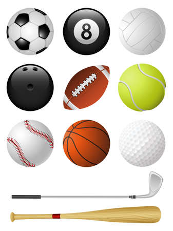 Sports icons isolated on white Vector