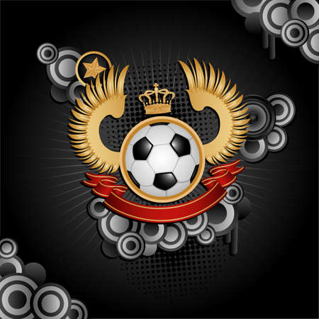 Football coat of arms Vector