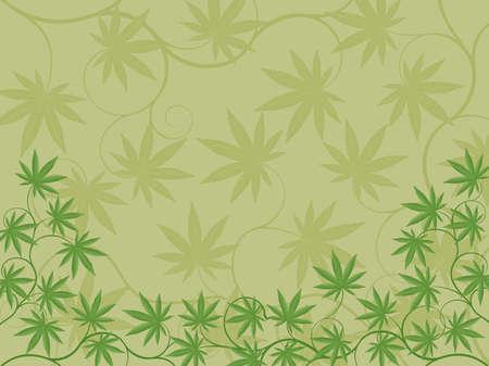 leaf marijuana: Fondo floral