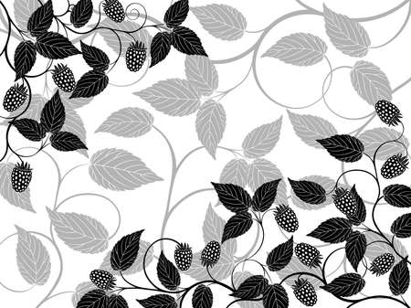 Floral background with a berries Stock Vector - 7756712