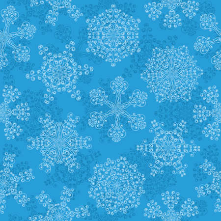 Seamless pattern with a snowflakes Vector