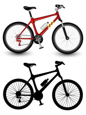 fahrradrennen: Isoliert Bild von ein Fahrrad