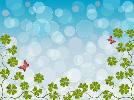 Floral background with a clover Stock Vector - 8578141