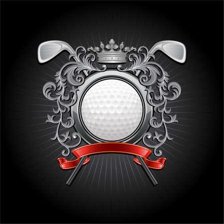 pelota de golf: ?oat de armas con una pelota de golf y putters