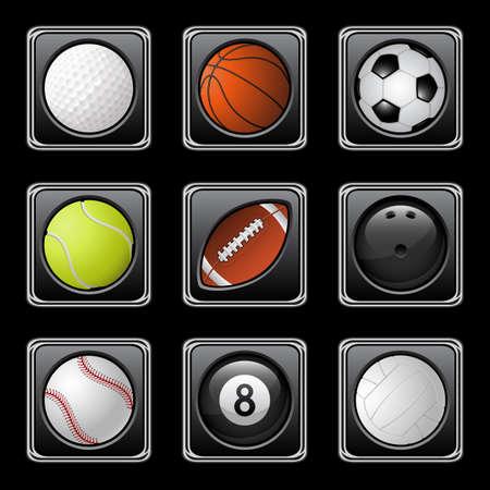 sport balls: Sports balls icons
