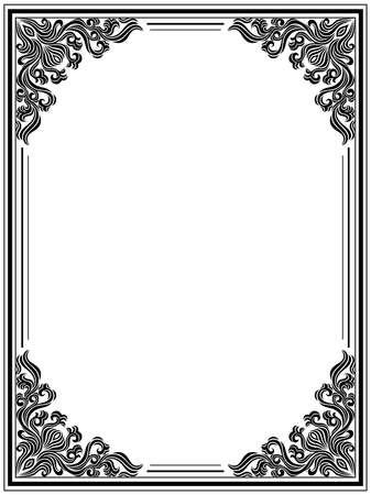 Vintage floral frame Stock Vector - 9046512