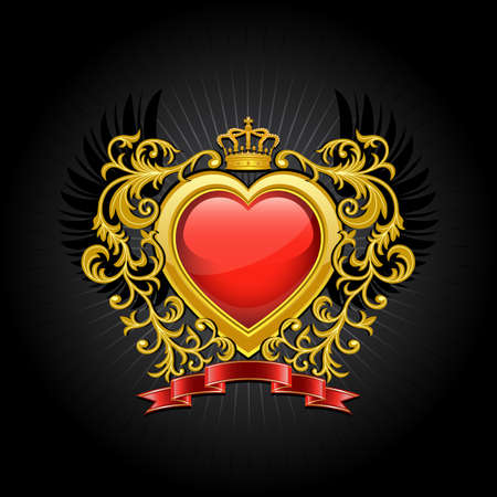 heart and crown: Stemma