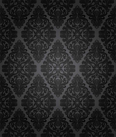damask pattern: Seamless floral pattern