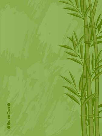 Arrière-plan floral abstrait avec un bambou Vecteurs