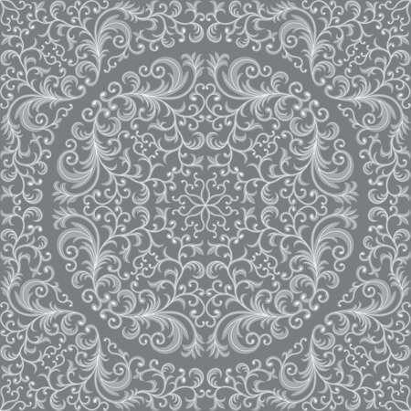 gray pattern: Seamless floral pattern
