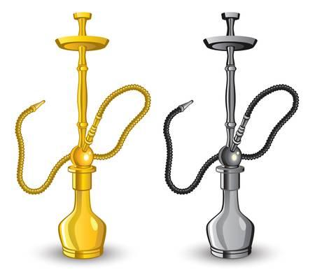 pipe smoking: Isoliert Bild von Shisha