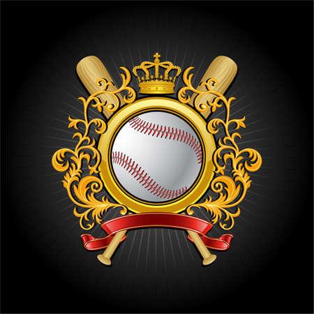Ð¡oat of arms. Baseball symbol