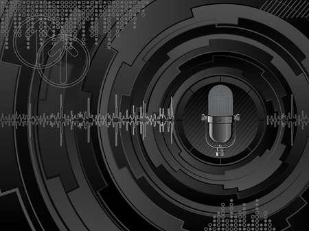 microfono radio: Fondo de m�sica abstracta