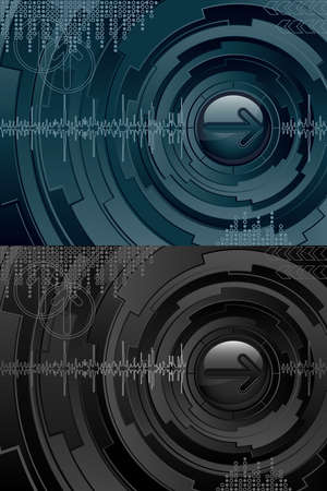 Abstract futuristic background Stock Vector - 9717259