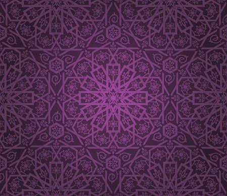 Decoratieve naadloze patroon. Retro achtergrond.  Vector Illustratie