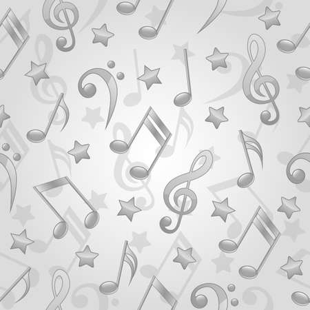 Seamless pattern with a musical notes Vector