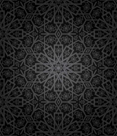 Decorative seamless pattern. Retro background Ilustracja
