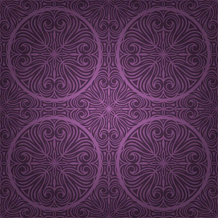 Decorative seamless pattern. Retro background Vector