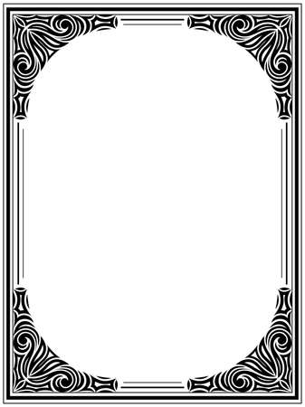 Vintage floral frame. Decorative pattern Vector