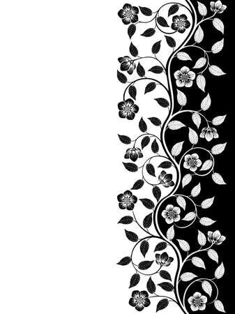 monochroom: Vintage floral achtergrond. Decoratief patroon