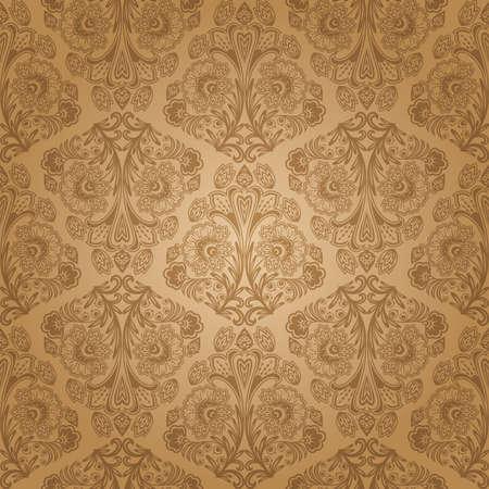 Seamless floral pattern. Retro achtergrond