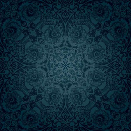 Seamless floral pattern. Retro background Vector