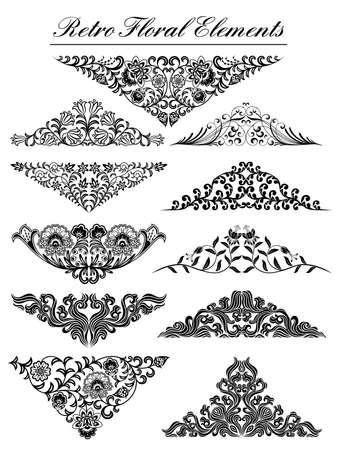 calligraphique: Vintage �l�ments floraux Illustration