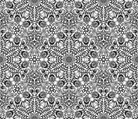 Seamless floral pattern. Retro background Stock Vector - 12812172
