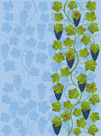 Floral background with a vine Vector