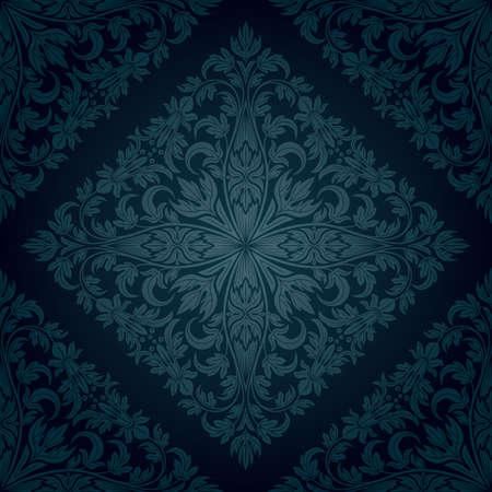 Jednolite kwiatowy wzór. Retro Ilustracje wektorowe