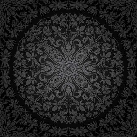 damasco: Patr�n floral sin fisuras. Fondo retro