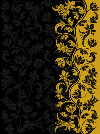 swirl floral: Decorative floral pattern. Retro background Illustration