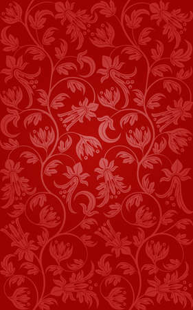 Seamless floral. Retro background