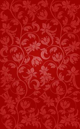 red swirl: Seamless pattern floreale. Sfondo Retro Vettoriali