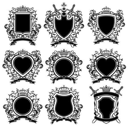 wappen: Wappen gesetzt Illustration