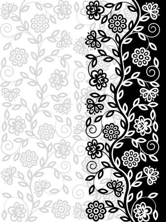 Decorative floral pattern. Retro background Vector
