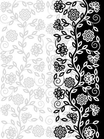 Decorative floral pattern. Retro background Illustration