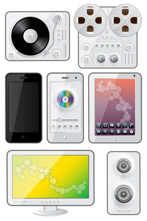 Isolated gadgets icons