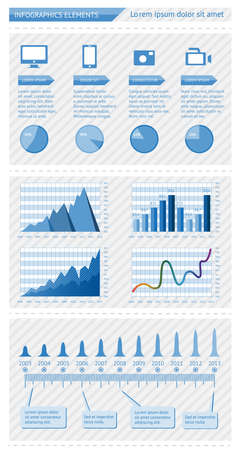 Infographics elements with schedules Vector
